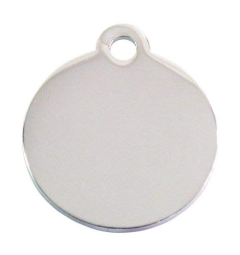 iMARC Adressanhänger mit Gravur - rund klein - Silber