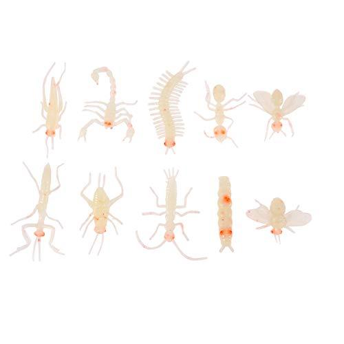 Lustige Kunststoff Leuchtkäfer Insekten Trick Spielzeug Tierfigur für Halloween Party Favors Spukhaus Prop Decor (zufälliges Muster) ()
