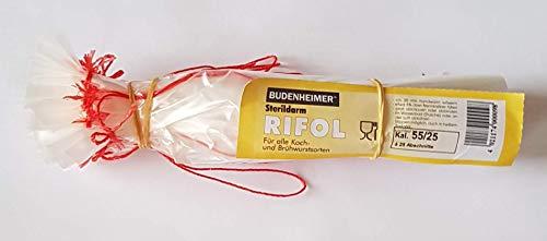 Budenheimer Rifol Kunstdarm Sterildarm - 25 Stück Kaliber 55/25 für Koch- und Brühwurst
