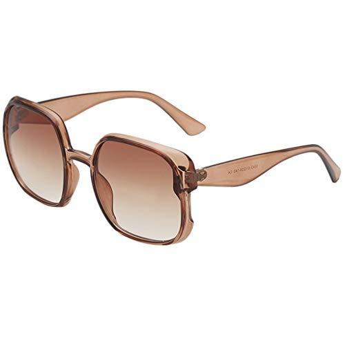 Lazzboy Mann Frauen Unregelmäßige Form Sonnenbrille Brille Vintage Retro Style Herren Polarisierte Damen Rechteckige Metall Rahme Ultra Leicht Sportbrille(H) -