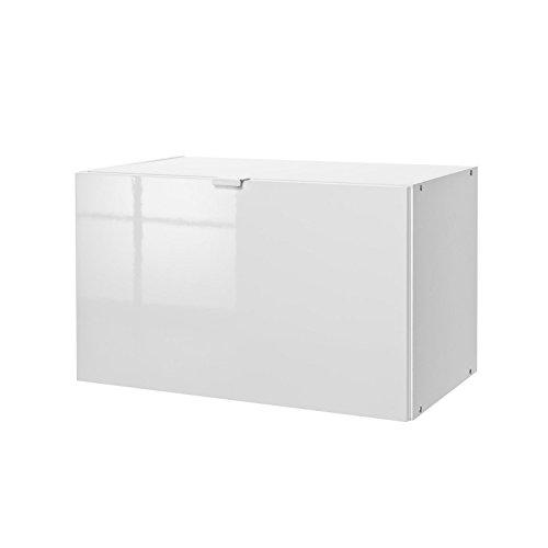 AVANTI TRENDSTORE – Klappeneinsatz für Regal in weiß hochglanz Dekor, ca. 59x36x35 cm
