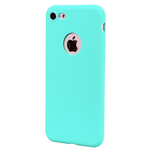3 x Coque iPhone 7 , Etui Doux TPU Silicone Slim Housse Cover Couleur des Bonbons Bumper Case Souple Flexible Antichoc Pour Apple iPhone 7 (4.7 pouces) Arrière Cas Ultra Mince Anti-Rayures de Protecti Rose + Noir + Bleu