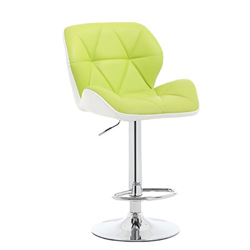 + Tabouret De Bar 360 ° Rotation Tabouret De Bar Simple Et Moderne Hauteur De Dossier Confortable Tabouret Haut De Restaurant ## (Couleur : Green)