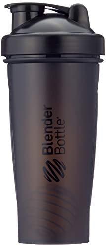 BlenderBottle Classic Shaker | Eiweiß Shaker | Diät Shaker | Protein Shaker mit Blenderball 820ml - Schwarz