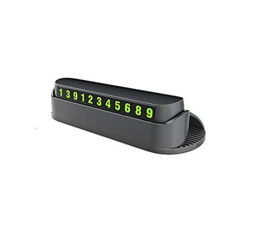 WYUE Temporäres Parkschild, leuchtendes Parknummernschild - ABS, multikinetisches Handy-Nummernschild (2 Stück),Black