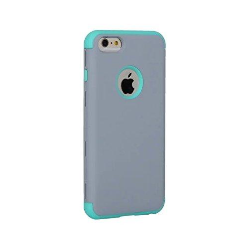 "iPhone 6 Plus Case,iPhone 6S Plus Case,Lantier 3 Stück Slim Frosted Matt Finish Design Shockproof Hybride Dual Layer Hard Case Cover für Apple iPhone 6 Plus/6S Plus 5,5"" Mint Grün+Grau Grey+Mint Green"