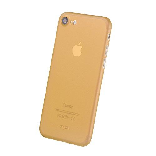 doupi UltraSlim Case iPhone 8 / 7 ( 4,7 pouces ) [ Chargeur sans fil pris en charge ] fin mat ultra mince et ultra léger Bumper Cover Housse de Protection Shell Coque - noir Orange