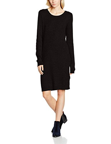 VERO MODA Damen Kleid Vmglory Ninka Ls Dress, Schwarz (Black Black), 34 (Herstellergröße: XS)