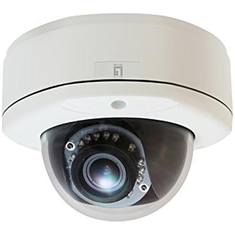 LevelOne FCS-3083 - Cámara de vigilancia (IP, Interior y exterior, Dome, Color blanco, Wall/Ceiling, 2592 x 1944