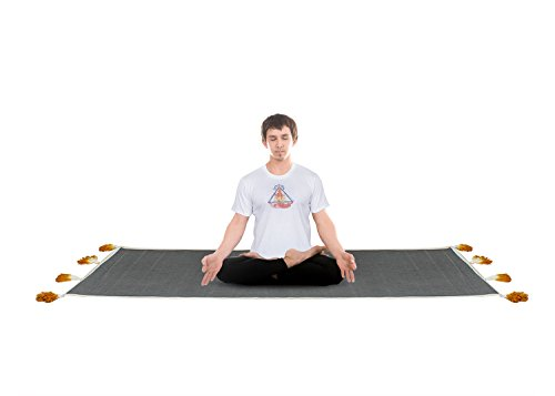 umwolle Grau verrutschsicheren Yoga-Matte fur Yoga-Matten, Pilates und Fitness (Halloween-übung Ideen)