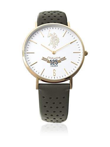 US Polo Association Reloj Analógico para Hombre de Cuarzo con Correa en Cuero USP3009GR
