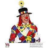 Widmann wdm9510F–Zylinder Clown aus Samt mit Sonnenblume und Haar, Mehrfarbig, One Size