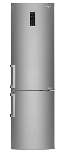 LG Electronics GBB 60 SAYXE Kühl-Gefrier-Kombination (Gefrierteil unten) / A+++ / 201 cm / 161 kWh/Jahr / 250 L Kühlteil / 93 L Gefrierteil/Inverter Linear Kompressor/No Frost/saffiano (Lg Kompressor-kühlschrank)