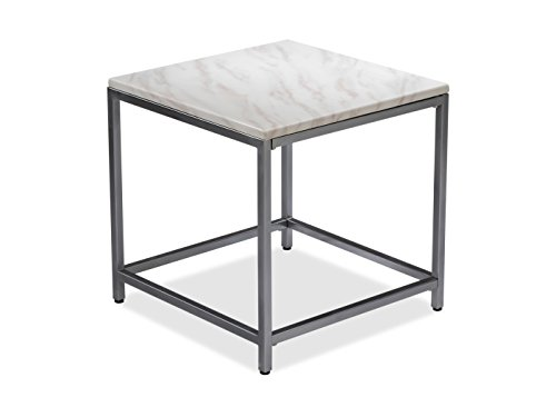 Durian ALSTER/ST/B Side Table (Glossy Finish, Cream)