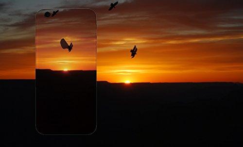 MPPK-Hamburg ® Apple iPhone ® 6 / 6s 4,7 Zoll Schutz Hülle - Case in wunderschönem Design – Stabiles / transparentes PC - Verschneites Gebirge Grand Canyon Sonnenuntergang