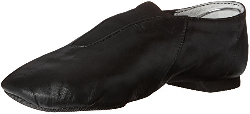 cp05-capezio-show-stopper-jazz-adult-size-black-leather-split-sole-pull-on-us-75-uk-55