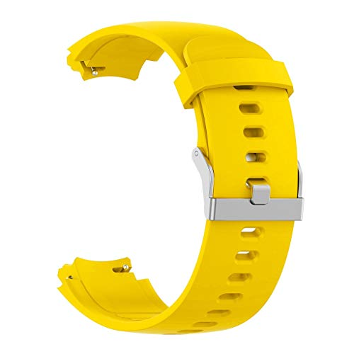 Vollsilikon-TPU-Hülle, Chshe☀☀☀, Silikonarmband mit Uhrenarmband + TPU-Schutzhülle für Huami Amazfit Verge Youth Watch (Gelb)