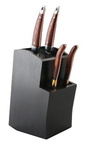 Gestufter Universaler Messerblock - Aufbewahrung und Ordnung für Ihre Messer - Toll für Keramik und Edelstahl Utensilien (Schwarz)