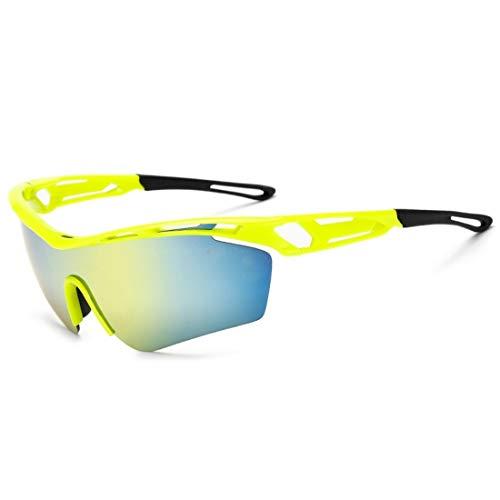 Limeinimukete Winddichte Sand-Sonnenbrille des Reitbrillen-Mountainbikes, die Männer und Frauen im Freien wandert (Color : Yellow)