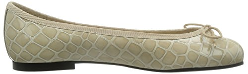 French Sole - Ballerine Henrietta Crocodile Effect, Donna Beige (beige)