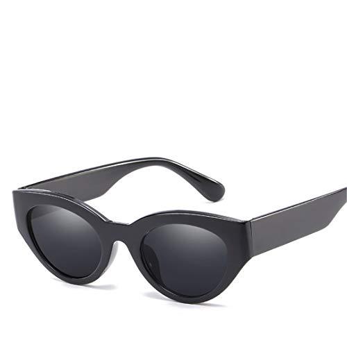 DAIYSNAFDN Leopard Cat Eye Sonnenbrillen für Frauen Vintage Classic Design Brille Outdoor Black Gray