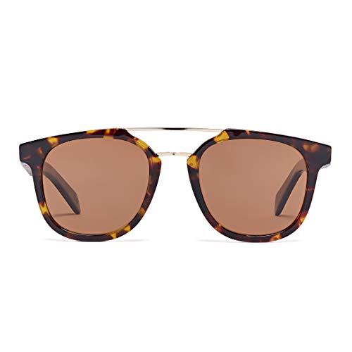 Bonizetti Unisex-Holz-Sonnenbrille Barcelona La Rambla UV 400 142mm
