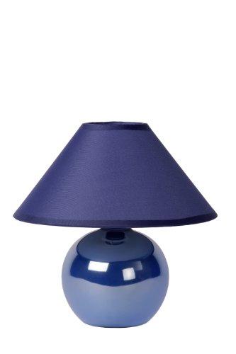 Lucide FARO - Lampe De Table - Ø 20 cm - Bleu