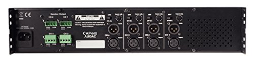 AUDAC CAP448 4.0 Home Wired Black audio amplifier - audio amplifiers (4.0 channels, 480 W, D, 0.3%, 100 dB, 80 dB)
