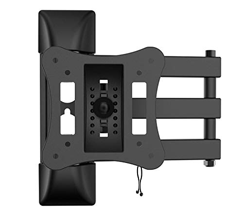 31YNL7UoIXL - Articulated Support for IBRA TV Compatible with Most Monitors from 13 to 27 Inches LCD LED and Curved TV, Tilting Swivel Arm, Wall Mount for Full Motion TV