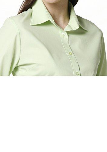 LEONIS Pflegeleichte Damen Langarm-Popeline-Bluse Grün