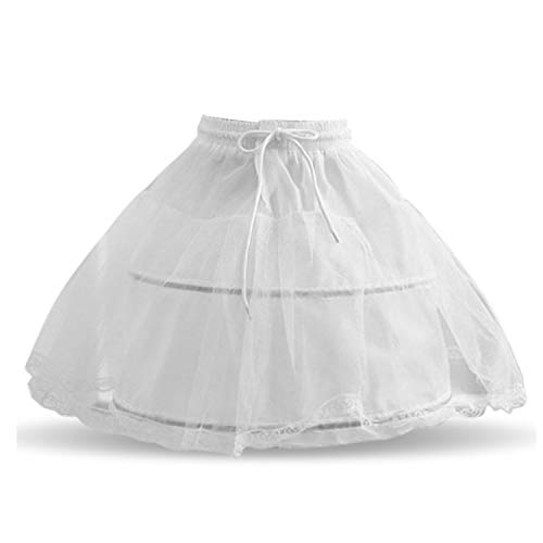 NNJXD Mädchen Fluffy Petticoat Hochzeit Geburtstage Kleider Krinoline Prom Underskirt Bustle