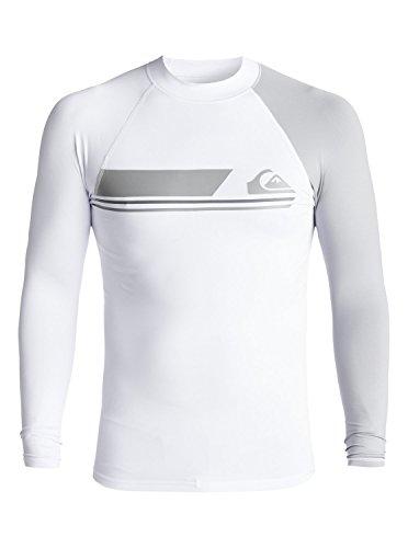 Quiksilver Active - Long Sleeve UPF 50 Rash Vest - Männer (Weiß Rash Vest)