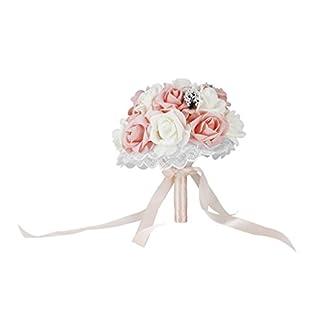 ulable Holding de la novia ramo de flores estilo coreano de simulación de Rose ramo para boda
