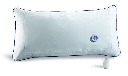 VITALmaxx 09663 Komfort-Wasserkissen , Kopfkissen 80x40 cm , Individuell anpassbarerer Härtegrad