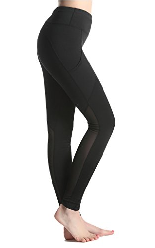 Lotus Instyle femmes jambi¨¨res de yoga pantalons de surv¨ºtement de sport Athletic Pants incl. Sac Black 2