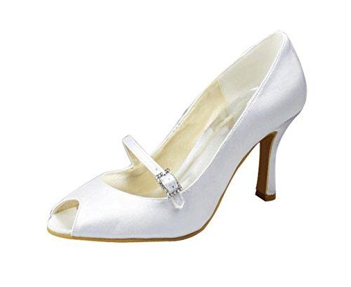 Kevin Fashion , Peep-Toe femme Blanc - blanc