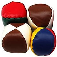 YeahiBaby 4pcs Que Hacen Juegos Malabares Que Hacen Juegos Malabares Beanbag Toy Que Juega al Aire Libre Interior para los niños (Color al Azar)