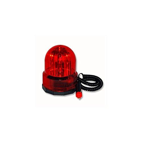 Rundumleuchte 12V Rot mit Magnetfuß Signalleuchte Partyleuchte Blinklicht