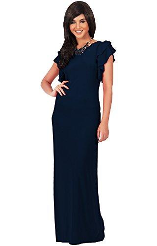 koh-kohr-femmes-robe-longue-manches-courtes-amincissante-ebouriffee-en-couches-couleur-bleu-marine-t