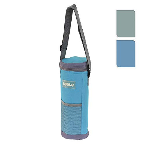 Nevera para botellas 1500ml con bandolera ajustable 12x34cm colores surtidos EDM 73755