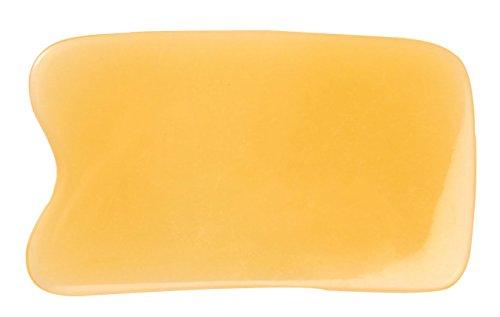 niceeshop(TM) Quadrat Form Harz Gua Sha Werkzeug Horn Kratzen Platte, Gelb