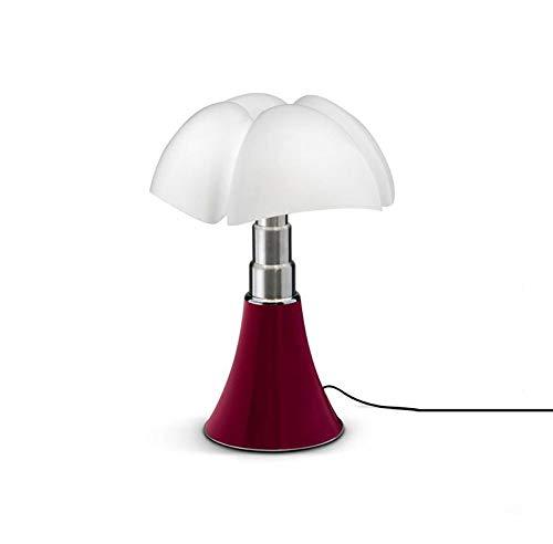 Mini Pipistrello-Lampada LED rosso dimmer touch h35cm-Lampada da tavolo Martinelli Luce designé da Gae Aulenti