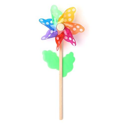 Kalttoy Windmühle Spielzeug Kinder Kinder Garten Dekoration 7 Blätter Bunte Outdoor Spinner | Garten > Dekoration | Kalttoy