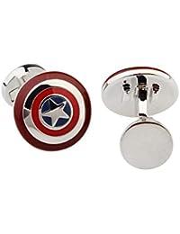 Gemelos de Camisa Escudo Capitán América mod 3 17x17mm