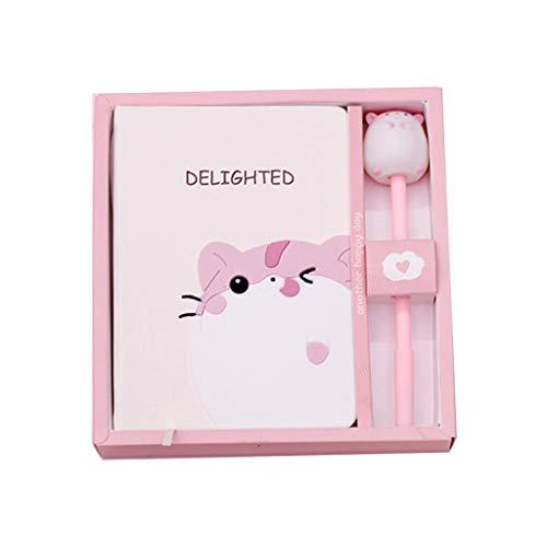 Tvvudwxx 'Delighted' Notizbuch Geschenkbox Nette Maus Notizblock Mit Stift Set Notizheft Schüler Kinder Geschenk Blanko Und Liniert Leder Tagebuch -