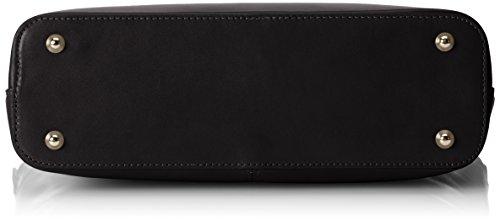 CTM Borsa da Donna Classica, 36x27x12cm, Vera pelle 100% Made in Italy Nero