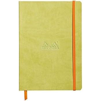 Clairefontaine Rhodiarama Carnet souple 160 pages ivoire dot à points à élastique A5 90 g Anis