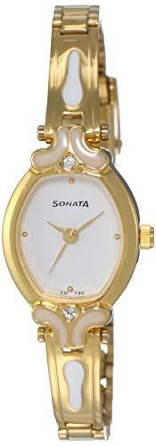 Sonata Analog White Dial Women's Watch -NK8068YM03