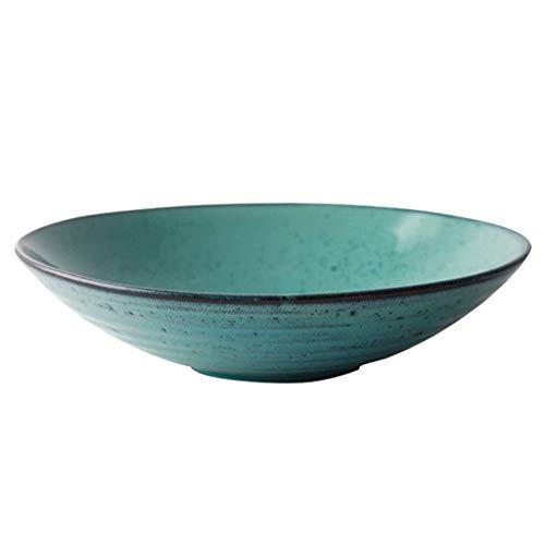 Pasta Fruit Pottery Large Bowls Noodle/Salad Tableware 1L Cereal/Soup Tableware (Color : 6912009000)