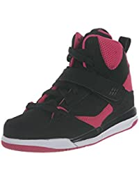 newest 511f5 c487b Air Jordan Kids 1 Retro High Shoes, Black Vivid Pink-Vivid Pink,